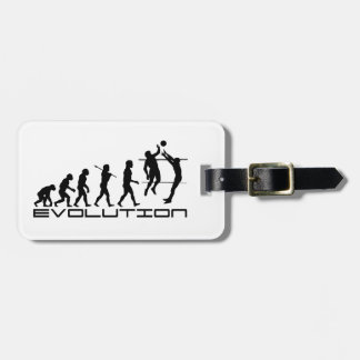 Volleyball Player Sport Evolution Art Luggage Tag
