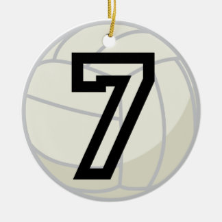 Volleyball Player Uniform Number 7 Ornament