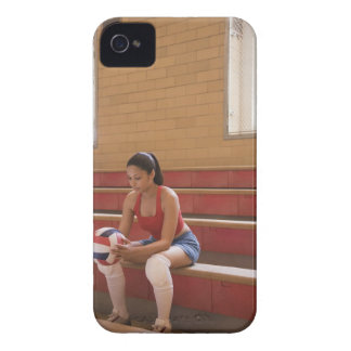 Volleyball player with volleyball iPhone 4 case
