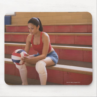 Volleyball player with volleyball mouse mat