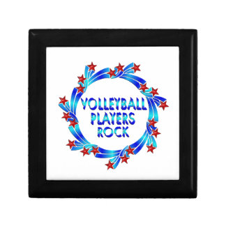 Volleyball Players Rock Red Stars Keepsake Box