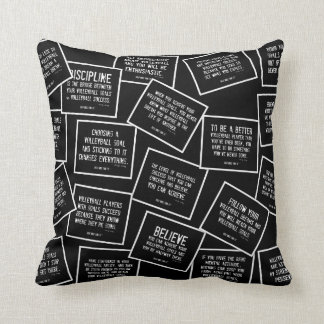 Volleyball Quotes Pillow in Black and White