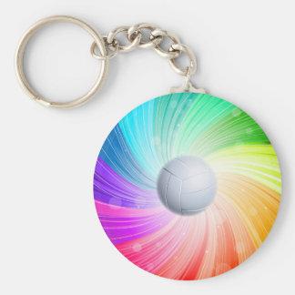 Volleyball rainbow keychain