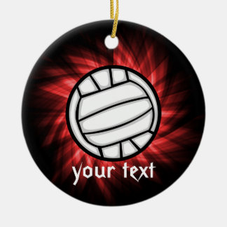 Volleyball; Red Christmas Ornament