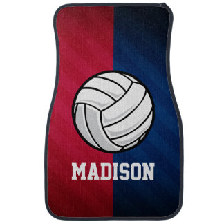 Volleyball; Red, White, and Blue Car Mat