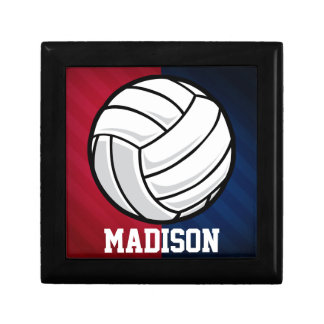 Volleyball; Red, White, and Blue Jewelry Boxes