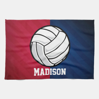 Volleyball; Red, White, and Blue Tea Towel
