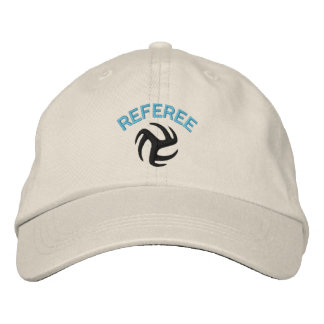 Volleyball Referee Cap - blue ref Embroidered Hat