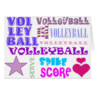 Volleyball Repeating Card