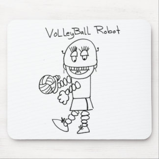 Volleyball Robot Mouse Pads