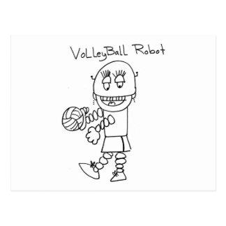 Volleyball Robot Postcard