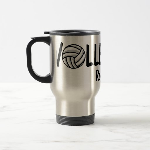 Volleyball Rocks 15 Oz Stainless Steel Travel Mug