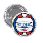 Volleyball Rocks Ball by Mudge Studios 3 Cm Round Badge
