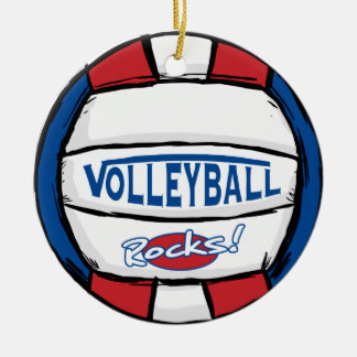 Volleyball Rocks Christmas Ornament