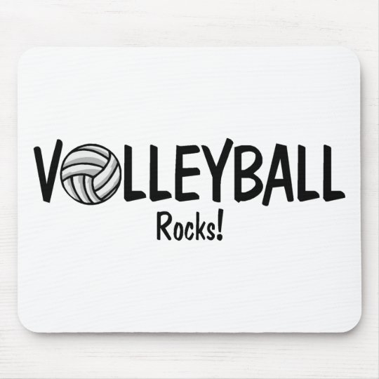 Volleyball Rocks Mouse Mat