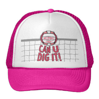 Volleyball Rocks Pink Hats