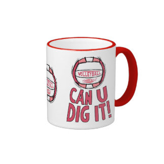 Volleyball Rocks Pink Coffee Mug