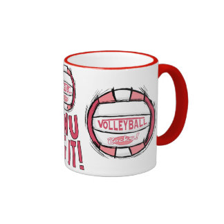 Volleyball Rocks Pink Mugs