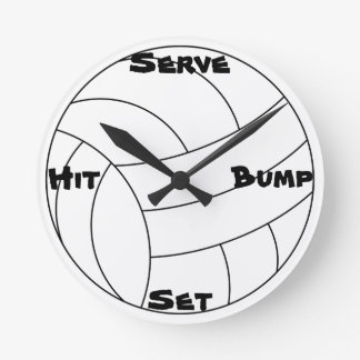 Volleyball Round Clock