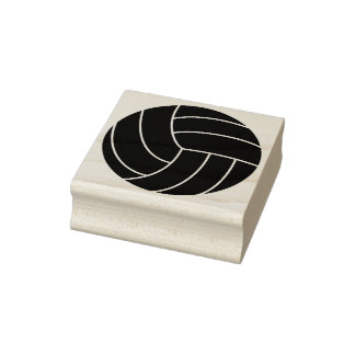 Volleyball Rubber Stamp