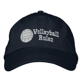 Volleyball Rulez Embroidered Hat