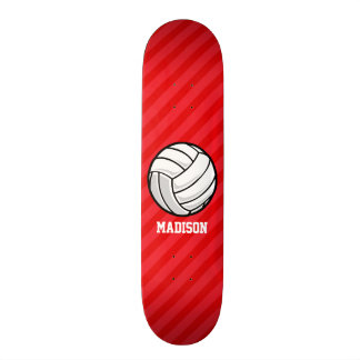 Volleyball; Scarlet Red Stripes 19.7 Cm Skateboard Deck
