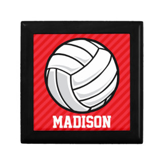 Volleyball; Scarlet Red Stripes Gift Box