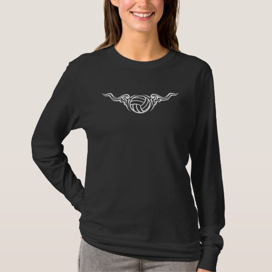 Volleyball Scrolly Wings T-Shirt