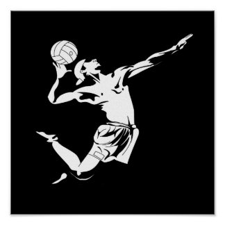 Volleyball Serve 2 Print