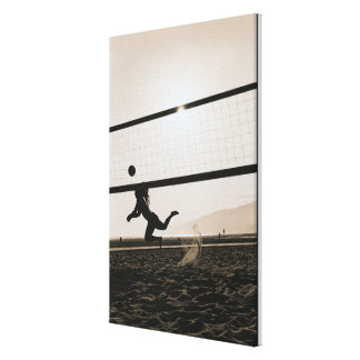 Volleyball Serve Canvas Print