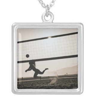 Volleyball Serve Silver Plated Necklace