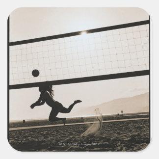 Volleyball Serve Square Sticker
