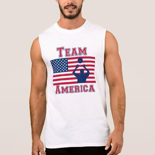 Volleyball Set American Flag Team America Sleeveless Shirt