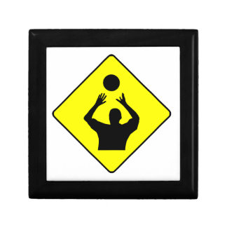 Volleyball Set Crossing Sign Jewelry Boxes
