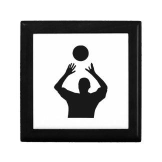 Volleyball Set Silhouette Jewelry Box