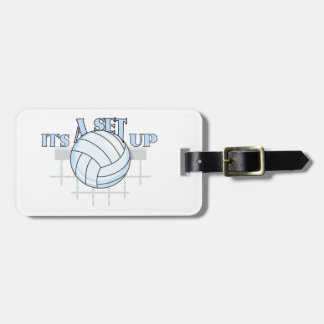 Volleyball Set Up Luggage Tag