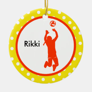 Volleyball Setter Ornament Personalize