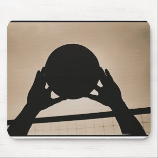 Volleyball Silhouette 2 Mouse Mat