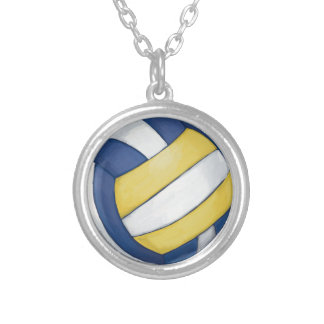 Volleyball Silver Plated Necklace