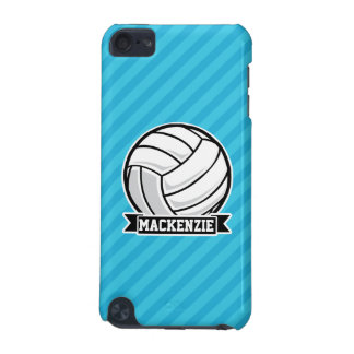 Volleyball; Sky Blue Stripes iPod Touch (5th Generation) Cases