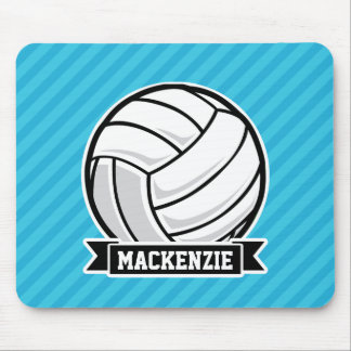 Volleyball; Sky Blue Stripes Mouse Pad