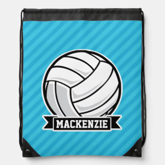 Volleyball; Sky Blue Stripes Rucksack