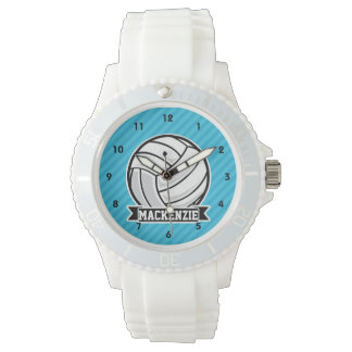 Volleyball; Sky Blue Stripes Watch