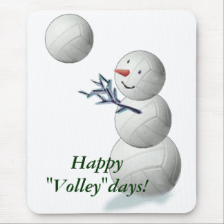 Volleyball Snowman Christmas Mouse Mat