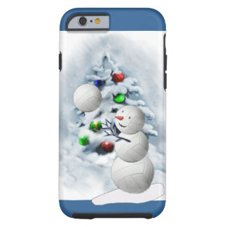 Volleyball Snowman Christmas Tough iPhone 6 Case
