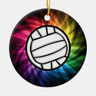 Volleyball; Spectrum Christmas Ornament