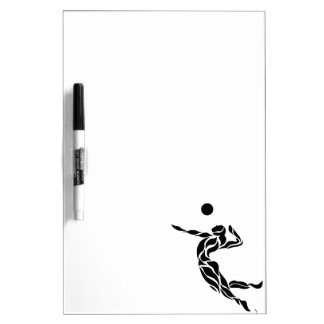 Volleyball Spike Dry Erase White Board