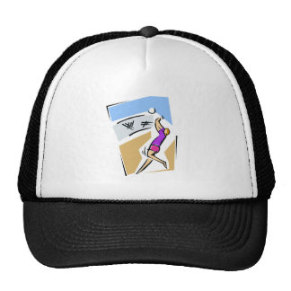 Volleyball spike girl hats