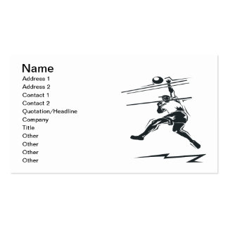 Volleyball Spike Pack Of Standard Business Cards