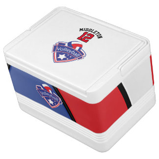 Volleyball Star | Red, White and Blue Igloo Cooler